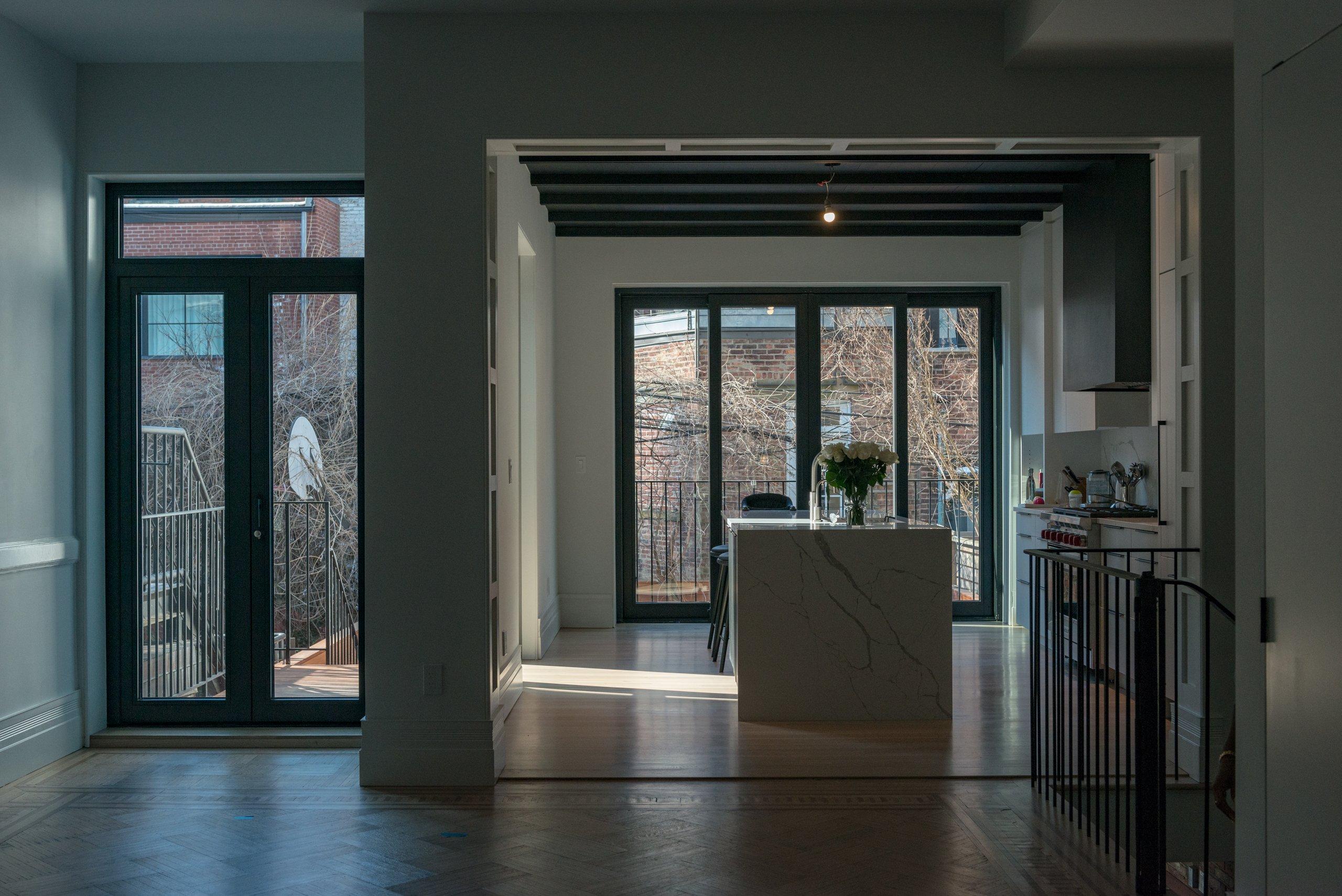 Bildau & Bussmann Windows and Richlite Millwork in Historic Landmark Renovation NYC