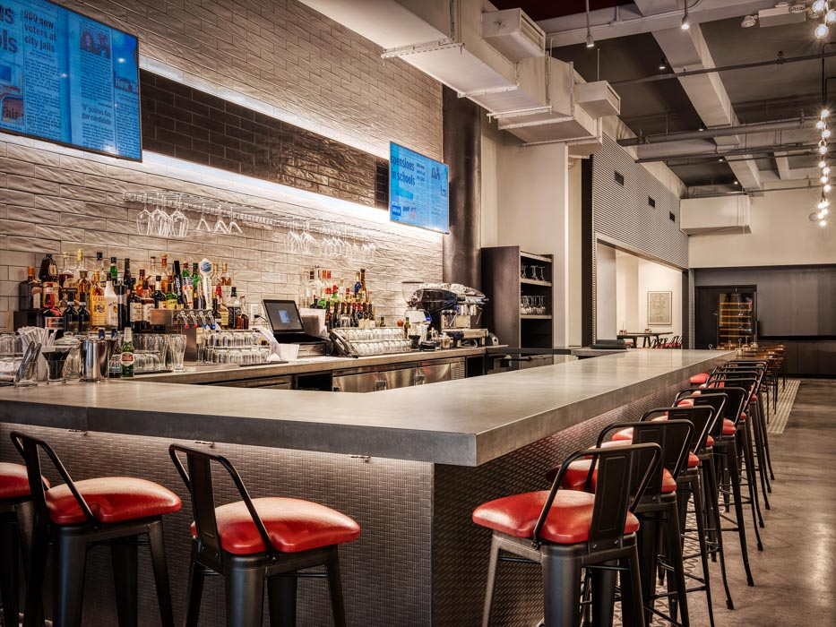800 Degrees Pizza Bar Die-Wall Millwork Panels