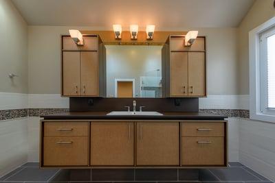 Richlite Stratum Birch Bathroom Vanity & Millwork - Richmond, VA
