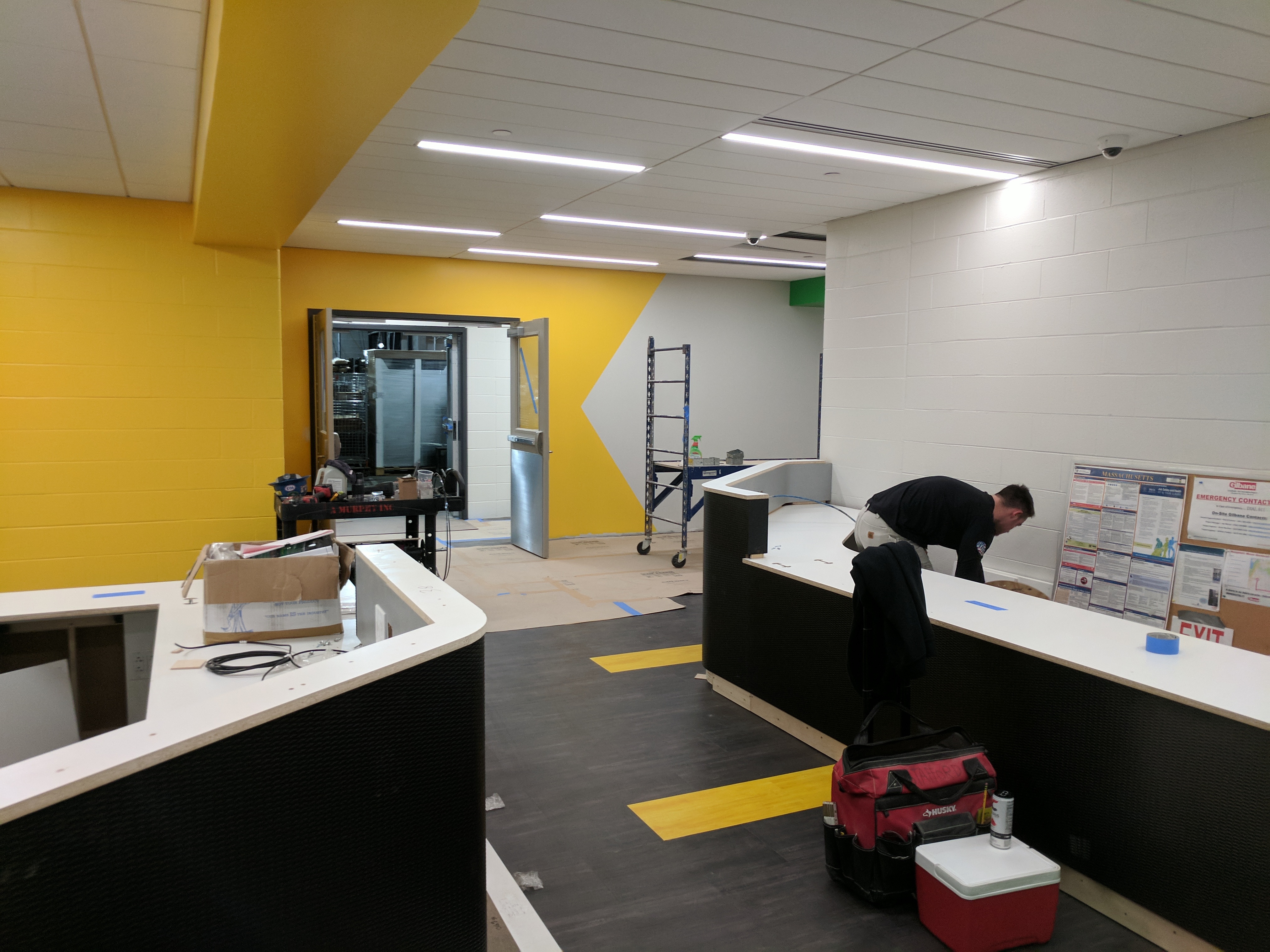 Construction of TD Garden - Tekstur Reception Desks