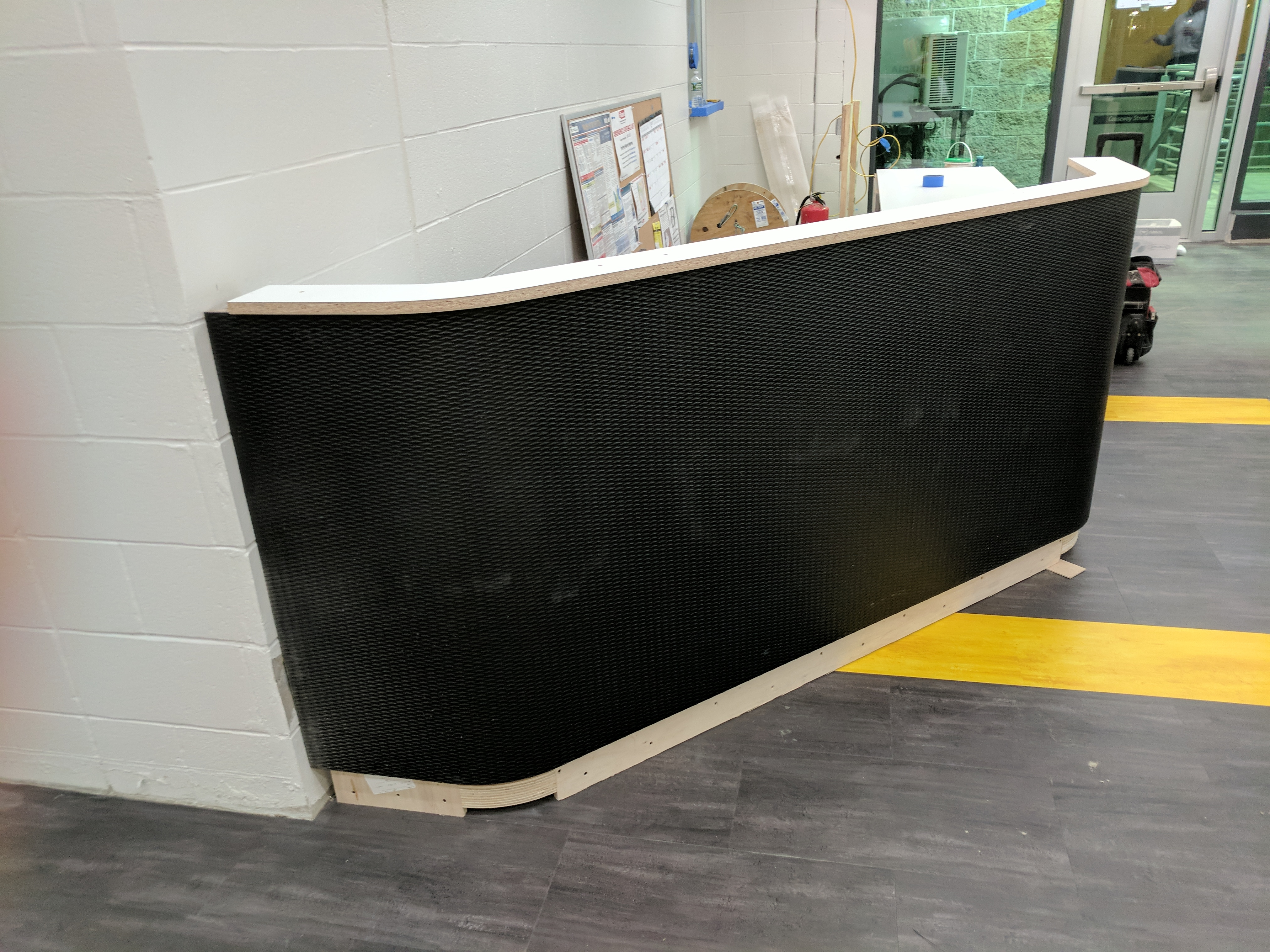 Construction of TD Garden - Tekstur Reception Desks