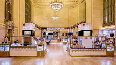 Richlite Countertops at Great Northern Food Hall in Grand Central Station