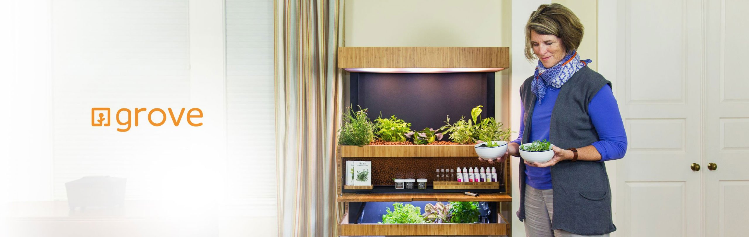 Grow Fresh Food In Your Home With the Grove Ecosystem