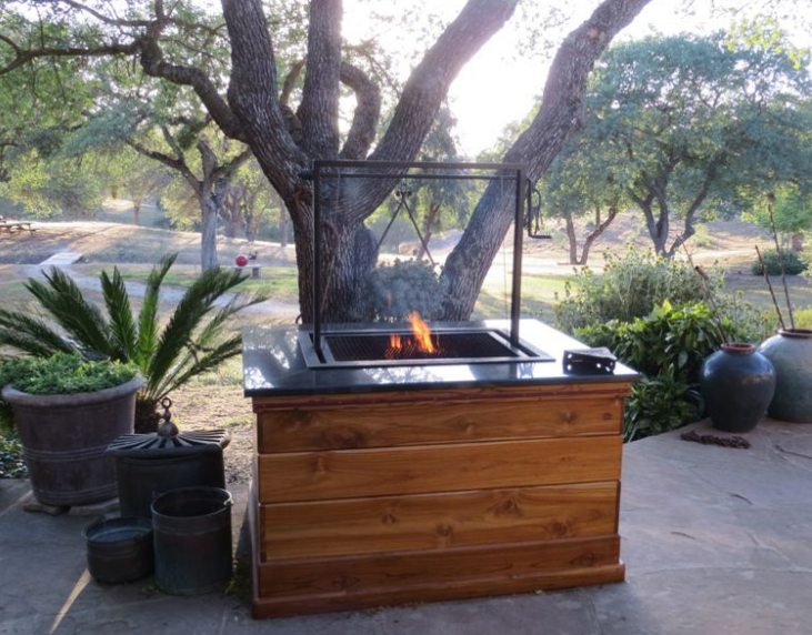 Outdoor Barbeque Station with Proteak Base