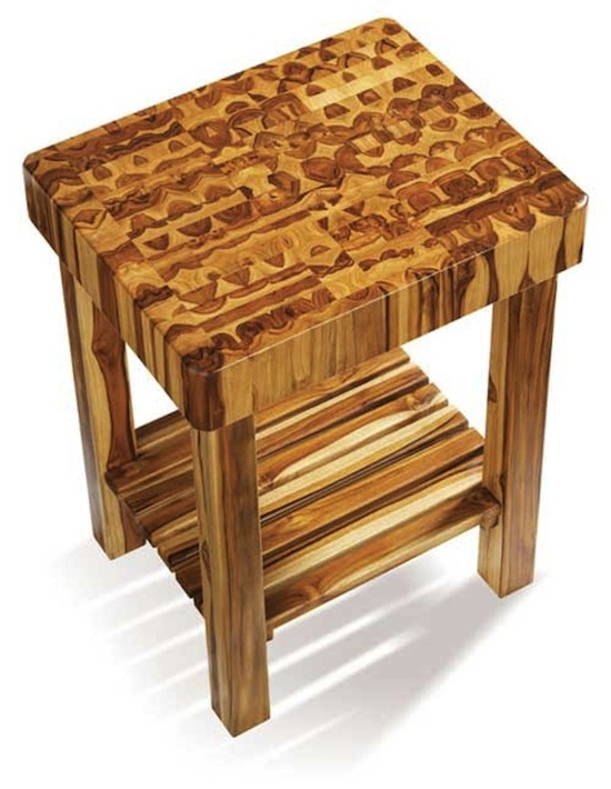A Beautifully Patterned Proteak Kitchen Cart