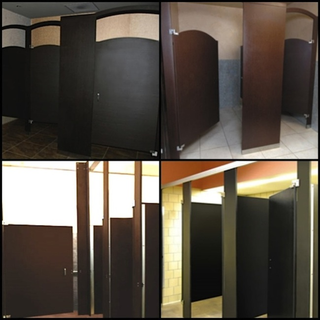 Richlite Bathroom Partitions Collage - Wooden bathroom stall doors