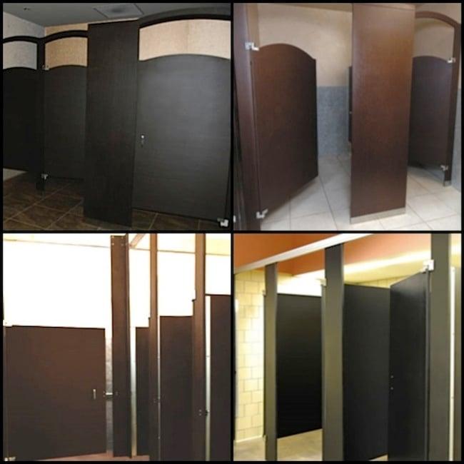 Richlite Bathroom Partitions Collage