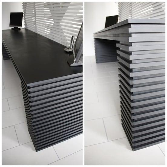 Richlite Black Diamond Desk Designed by the UK's En Masse Interiors
