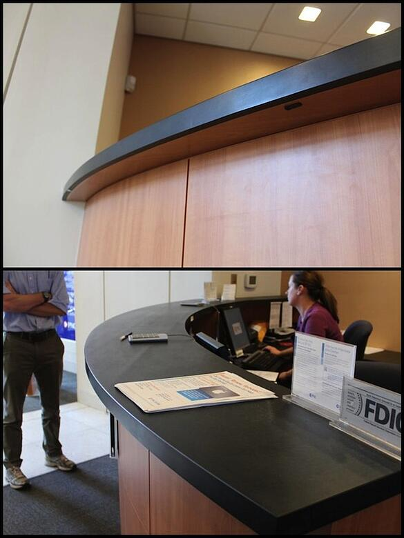 Richlite Blue Canyon Reception Countertop for PNC Bank