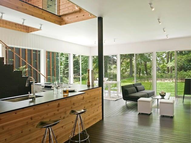 Noyack Creek Home with Black Diamond Richlite Countertops Designed by Bates Masi Architects