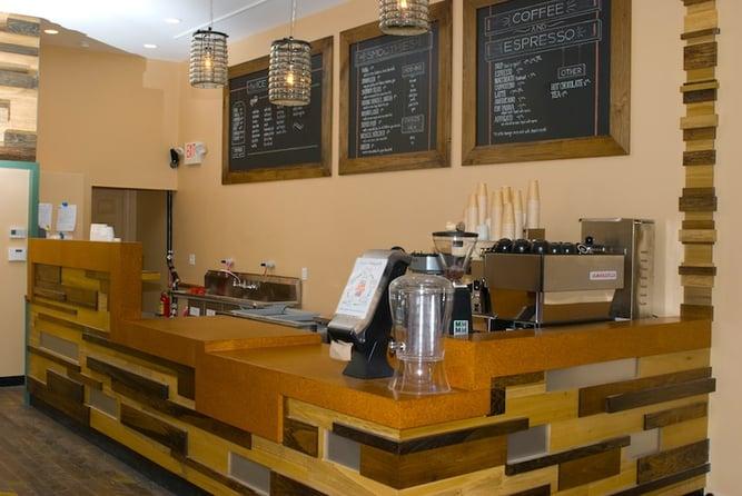Suberra Cork Countertop for FoMu Ice Cream Shop