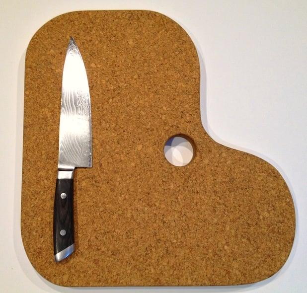 L-Shaped Suberra Cork Cutting Board